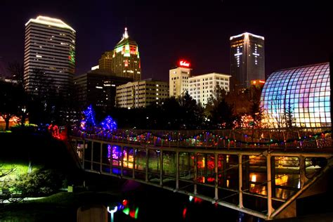 christmas lights downtown oklahoma city a photo on