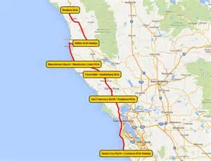 Campground Northern California Coast Map
