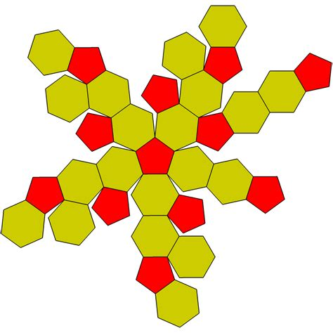 Truncated Cuboctahedron Template by File Truncated Icosahedron Flat Png Wikimedia Commons