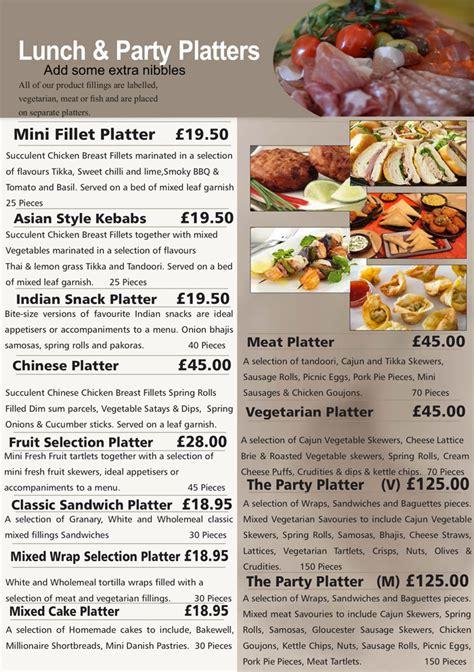 am pm canapé hedleys platter menus buffet catering sandwich bar