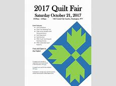 Event 2017 Quilt Fair – October 21 – Cabell County Family