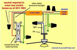 3 Wire Ceiling Fan Switch Wiring Diagram