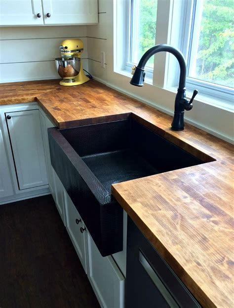"33"" Single Well Farmhouse Sink   Copper Sinks Online"