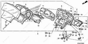 Honda Motorcycle 2006 Oem Parts Diagram For Meter  Gl1800