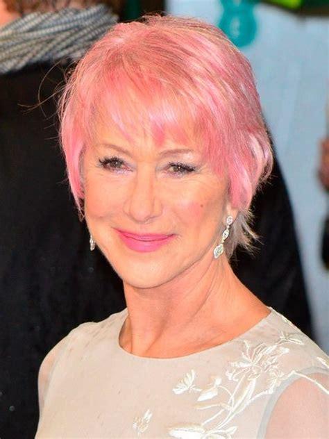 Helen Mirrens New Pink Hair Elle Uk