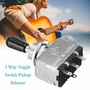 Black Tip Enclosed 3 Way Toggle Switch Pickup Selector For