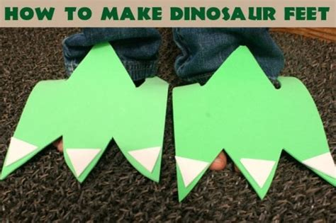 dinosaur feet party craft idea spaceships