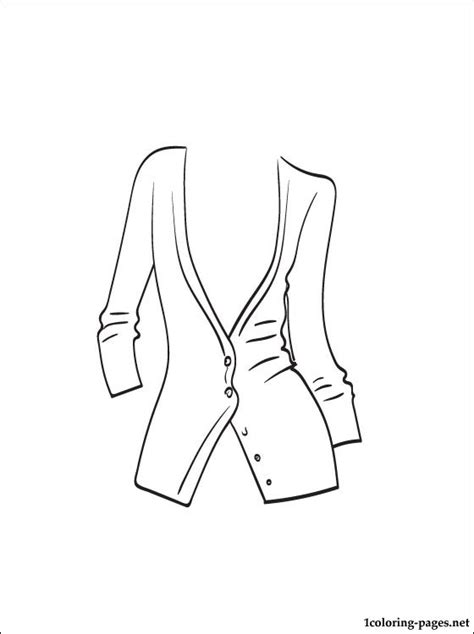 cardigan coloring page coloring pages
