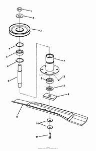 Snapper Rzt20420bve2  7800010  42 U0026quot  20 Hp Rzt Twin Stick Series 0 Parts Diagram For 42 U0026quot  Deck Spindle