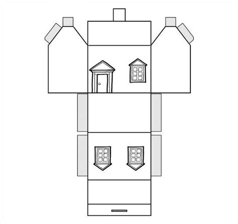 paper house template    documents