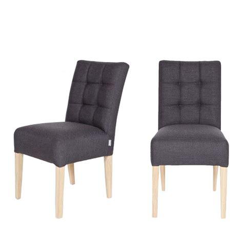 chaises capitonnées chaise capitonnée gris anthracite pauwel par drawer fr