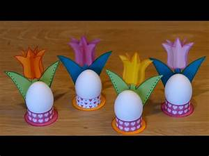 Hasen Basteln Aus Papier Vorlage : fr hlingsblumen spring flowers eierbecher eggcups aus papier basteln mit kindern youtube ~ Orissabook.com Haus und Dekorationen