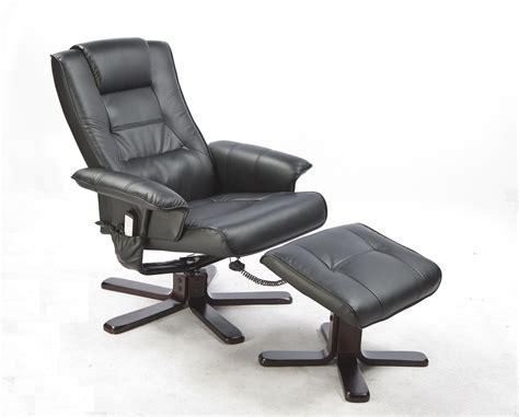 pu leather chair recliner ottoman lounge remote
