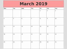 March 2019 Calendars That Work