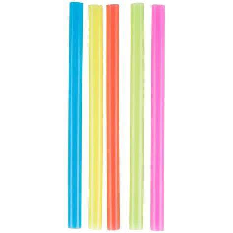 "Choice 8 1/2"" Colossal Neon Unwrapped Straw   4000/Case"