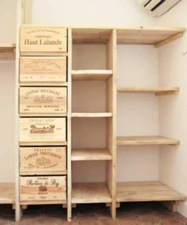 bloc tiroir cuisine faire un dressing avec des caisses en bois