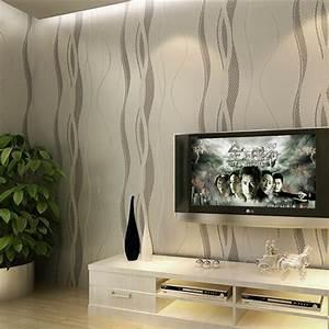 Tissus Decoration Murale : papier peint murale mur 3d courbe stripe tissu non tiss d cor chambre achat vente ~ Nature-et-papiers.com Idées de Décoration