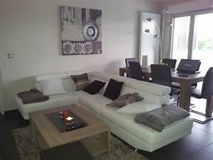 Salon Gris Blanc : notre salon home sweet home photo 1 3 salon zen ~ Dallasstarsshop.com Idées de Décoration