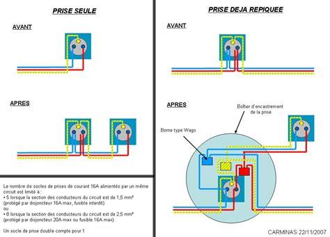 comment brancher une prise avec 3 fils bleus