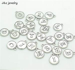 wholesale 26pcs fashion vintage silver bronze a z alphabet With metal letters for jewelry