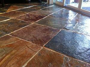 How to seal natural slate floors floor matttroy for How to install stone tile flooring