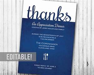 Dinner Party Invitation Card Appreciation Dinner Or Lunch Party Invitation Editable Etsy