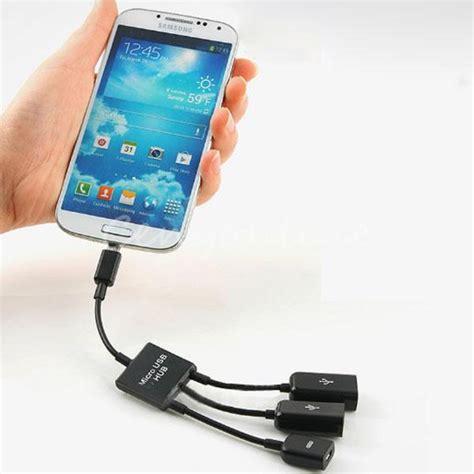buy universal black dual micro usb host otg hub multi