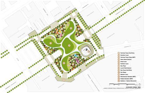 square plan landscape design drawings
