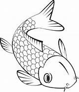 Trout Fish Koi Coloring Clipart Ikan Mewarnai Gambar Jumping Drawing Sky Transparent Garden Mas Simple Drawings Outline Ceramic Fishing Buku sketch template