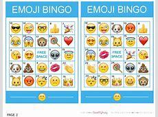Emoji Bingo Printable Printable 360 Degree