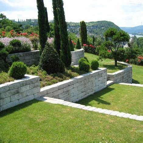 Mauerblock Als Hangbefestigung  Garten Pinterest