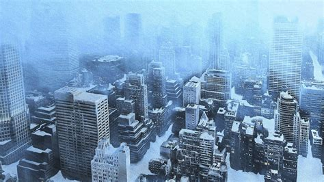 THE DAY AFTER TOMORROW apocalyptic winter snow ice dark ...