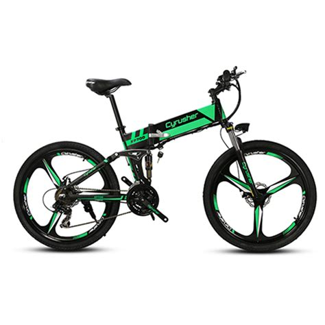 XF700 Green Folding Electric Mountain Bike Full Suspension ...
