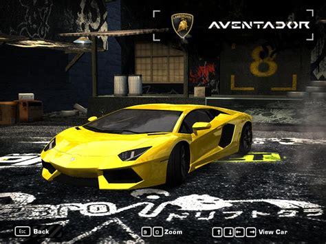 speed  wanted lamborghini aventador lp
