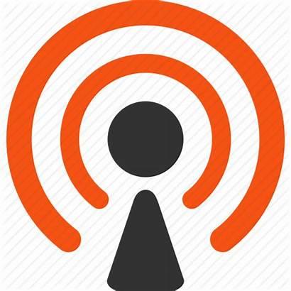Icon Broadcast Radio Clipart Signal Broadcasting Wireless