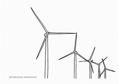 Coloring Wind Turbine Energy Windmills Windpower 840px
