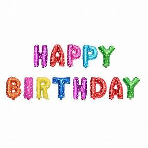 multicolor letters happy birthday foil balloons kids party With happy birthday foil balloon letters