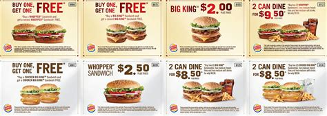 80830 Food Coupons South Africa by Sheet Save With Burger King Coupon Menu Printable