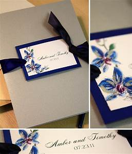 blue and purple orchid wedding invitationmomental designs With wedding invitations blue orchids