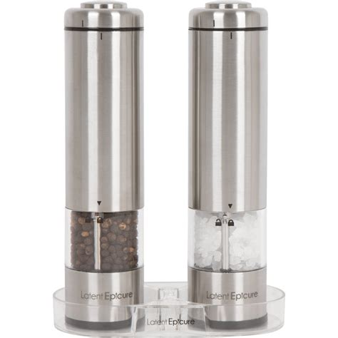 battery operated salt l latent epicure battery operated salt and pepper grinder