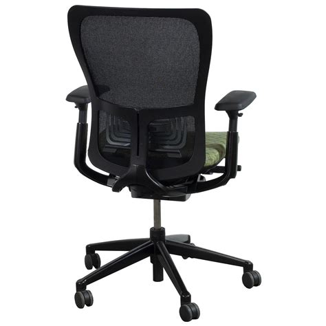 haworth zody used task chair black and green national