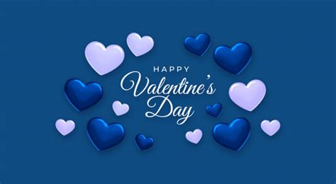 happy valentines day classic blue color   year