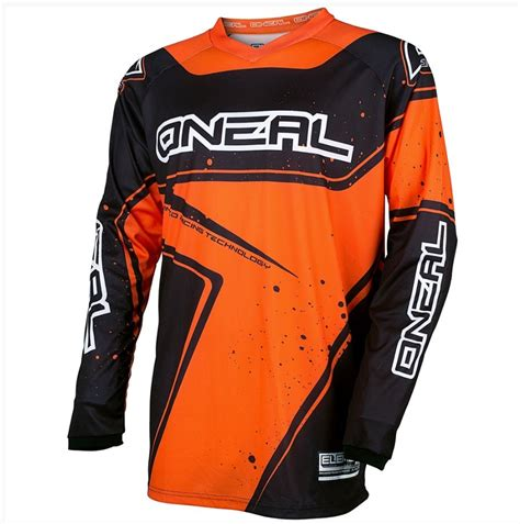 kids motocross jersey oneal 2017 element black orange kids motocross jersey youth