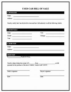 used car bill of sale template With bill of sale template for a car