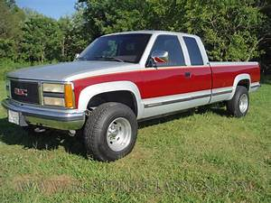 1992 Gmc K2500 Extended Cab Fully Loaded Sle Burgundy Silver 92 4x4 3  4 Ton