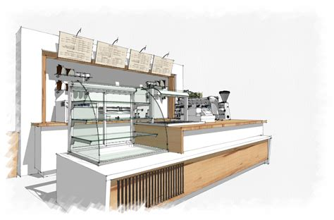 sketchup cuisine coffee bar sketchup interior design concept rendering