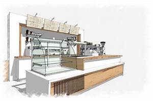 Coffee Bar Sketchup With Amazing Restaurant Interior