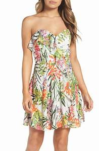 Strapless dresses on trend for summer wedding guests 2017 for Tropical wedding guest dresses