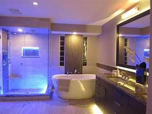 Amazing, Bathroom, Blue, Led, Lights, Decors, Ideas, In, Ceiling