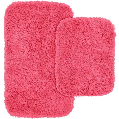Pink Bathroom Rug Set by Garland Rug Jazz Pink 21 In X 34 In Washable Bathroom 2